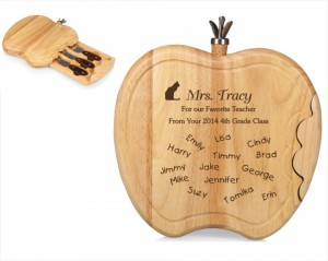 Engraved Apple Shaped Cheeseboard