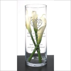 ENGRAVED GLASS VASE