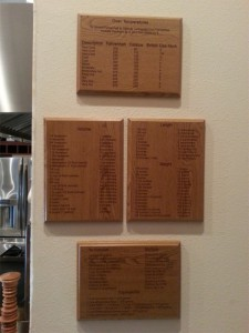 Wall of Laser Engraved Conversion Plaques
