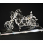 crystal motorcycle engraved