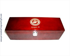 Engraved Wine Bottle Gift Box with Piano Finish