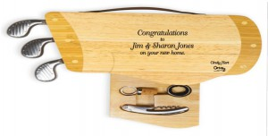 engraved golf bag cheese board