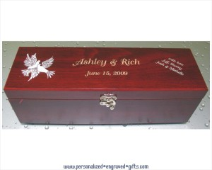 Engraved Anniversary Wine Gift Box