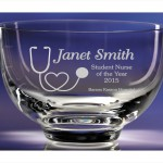 engraved glass bowl chic