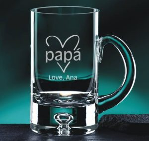 Engraved Crystal Beer Mug