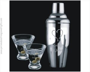 Engraved Cocktail Shaker Gift Set