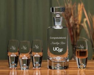 Engraved 5 Piece Decanter Set for Match Day