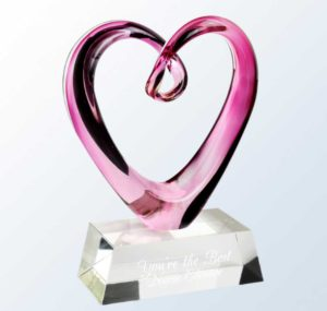 Engraved Pink Heart Keepsake for School Nurses
