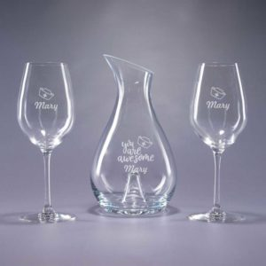 Engraved Wine Set with Glasses for National Nursing Week