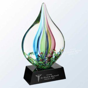 Engraved Art Glass Award